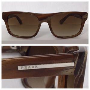 PRADA PR18PS Lt Brown Horn/ Brown Gradient size 56